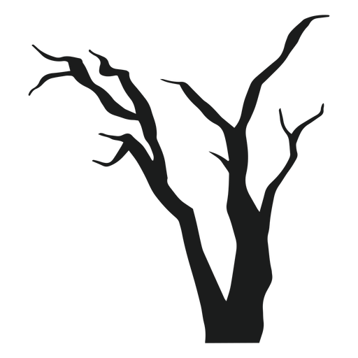 Dead tree silhouette Transparent PNG