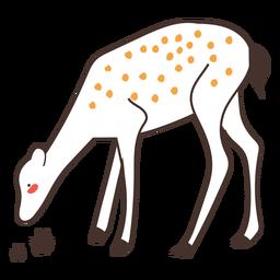Veado animal dos desenhos animados veado