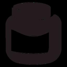Tarro de mostaza Dijon negro