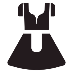 Dirndl vestido tradicional preto