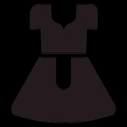 Vestido tradicional Dirndl negro