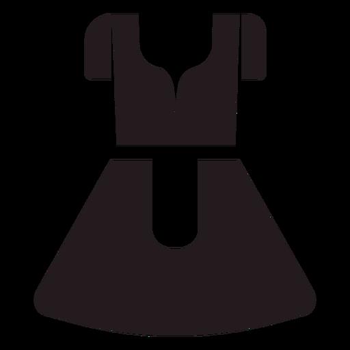 vestido tradicional dirndl negro  descargar pngsvg