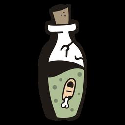 Botella repugnante dibujada a mano