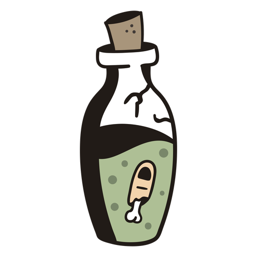 Disgusting bottle hand drawn