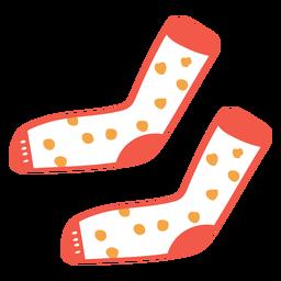 Dibujos animados de calcetines punteados