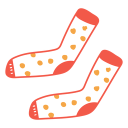 Dotted socks cartoon
