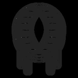 Icono de globo ocular de dragón negro