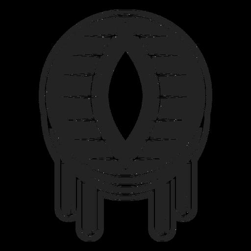 Dragon eyeball icon black
