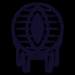 Línea de icono de globo ocular de dragón