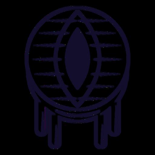 Dragon eyeball icon line Transparent PNG