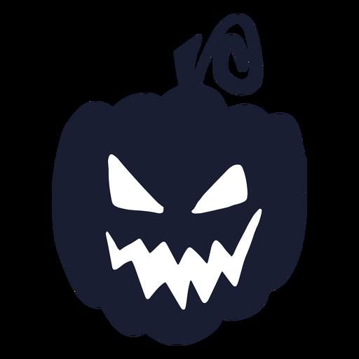 Evil carved pumpkin silhouette