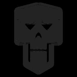 Icono de calavera malvada negro