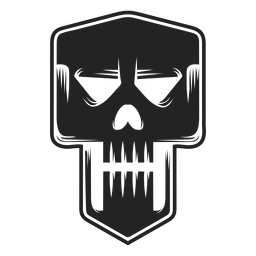 Icono de cráneo malvado negro