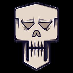 Evil skull icon cartoon