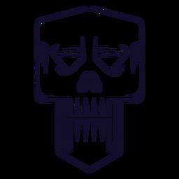 Evil skull icon line