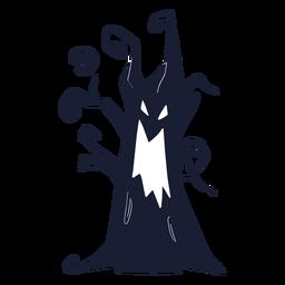 Silueta de árbol malvado espeluznante