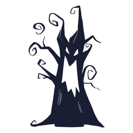 Evil spooky tree silhouette Transparent PNG