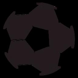 Fußball Sechseck schwarz