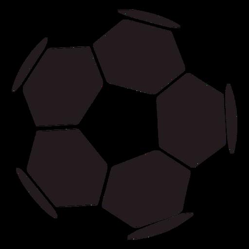 Balón de fútbol hexagonal negro Transparent PNG