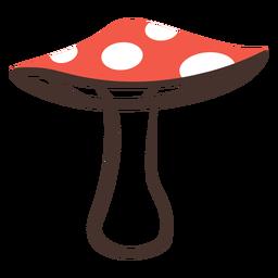 Forest mushroom icon