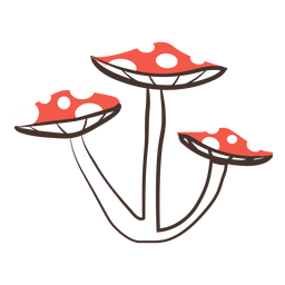 Forest mushrooms cartoon