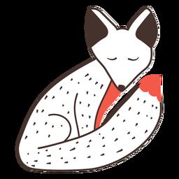 Fuchs sitzender Cartoon