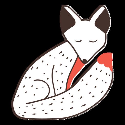 Dibujos animados de zorro sentado