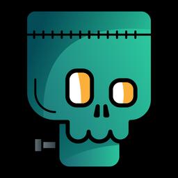 Icono de dibujos animados de avatar de Frankenstein