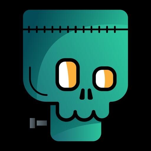 Ícone de desenho animado do avatar Frankenstein