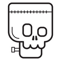 Frankenstein avatar line icon