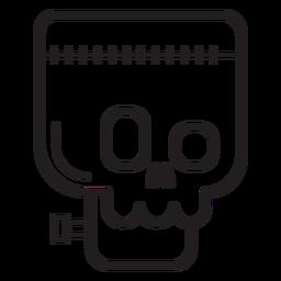 Icono de línea de avatar de Frankenstein