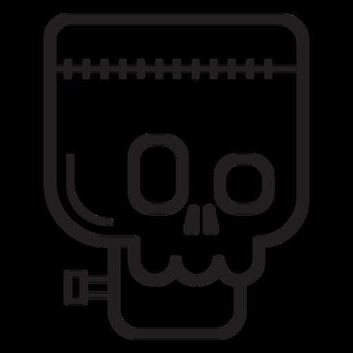 Frankenstein avatar line icon Transparent PNG
