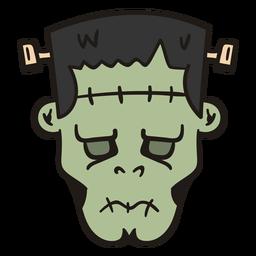 Frankenstein cabeza dibujada a mano