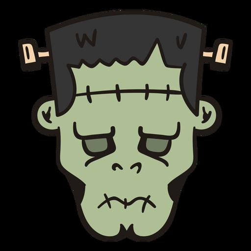 Cabeça de Frankenstein desenhada à mão