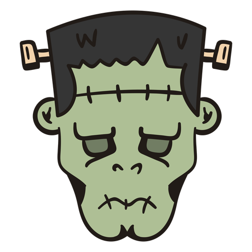 Dibujado a mano cabeza de Frankenstein