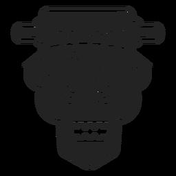Frankenstein head icon black