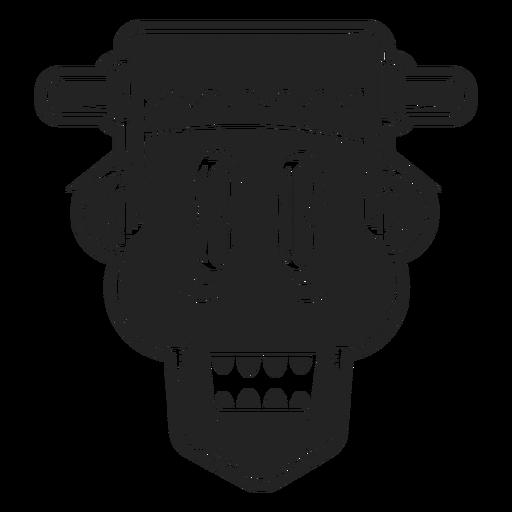 Icono de cabeza de Frankenstein negro Transparent PNG