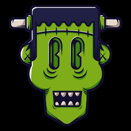 Dibujos animados icono de cabeza de Frankenstein