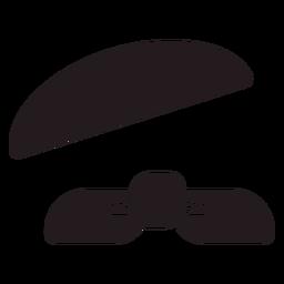 Boina francesa y bufanda negra