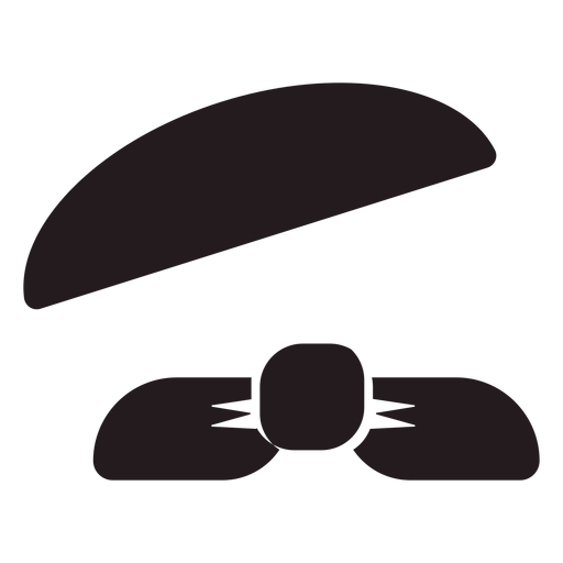 French beret and scarf black Transparent PNG
