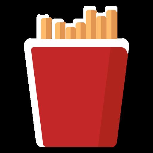 Ícone de batata frita plana