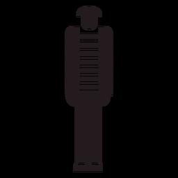 Figura de mimo francés negro