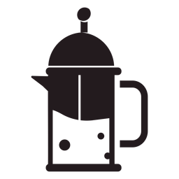 French press coffee maker black