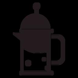 Prensa francesa cafetera negra