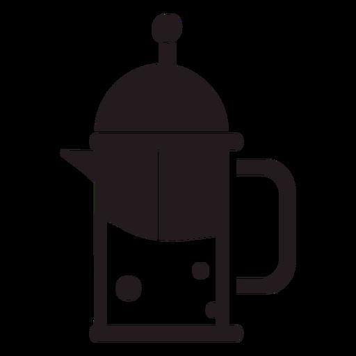 French press coffee maker black