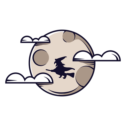 Full moon clouds icon cartoon Transparent PNG