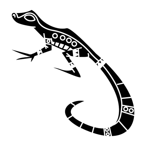 Geco lagarto elegante negro