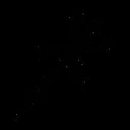 Geko vista superior elegante negro