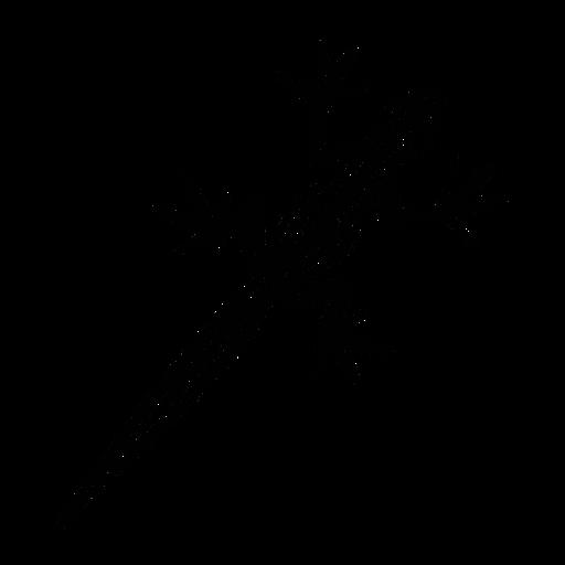 Geko Draufsicht stilvolles Schwarz