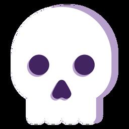 Cabeza de fantasma plana de halloween